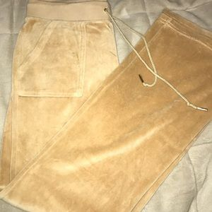 Juicy couture tan/yellow wide bottom sweatpants